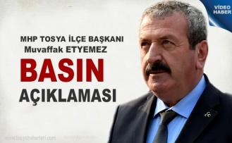 MHP Tosya İlçe Başkanlığı Gündeme dair Basın Açıklaması