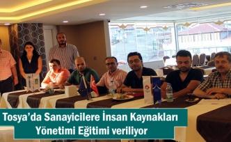 Tosya'da Sanayicilere İnsan Kaynakları Yönetimi Eğitimi veriliyor