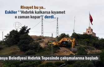 Tosya Belediyesi Hıdırlık Tepesinde çalışmalarına başladı