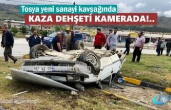 TOSYA'DA KAZA DEHŞETİ KAMERADA