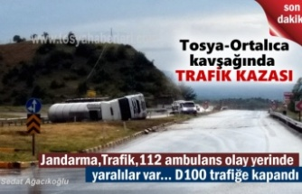 Tosya Ortalıca Kavşağında korkun TIR Kazası