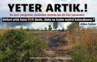 Tosya-Çaykapı Köyü Anız Yangınında İki Köy Yangın Tehlikesi Yaşadı