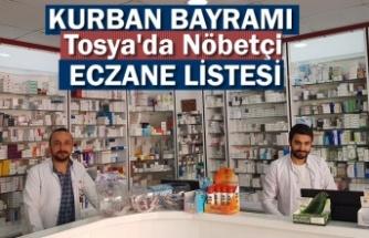 TOSYA'DA KURBAN BAYRAMI NÖBETÇİ ECZANE LİSTESİ