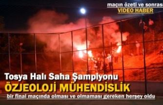Tosya Halı Saha Turnuvası Final Maçında Futbol ve Centilmenlik Kazandı