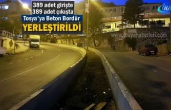 Tosya'da Bölünmüş Yol ve Bordür Çalışmasında Sona Gelindi