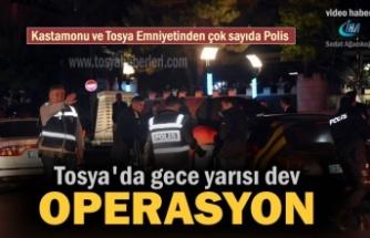 Tosya'da Emniyet ve KOM ekiplerinden Asayiş Operasyonu