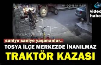 Tosya'da İnanılmaz Traktör Kazası