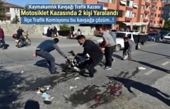 Tosya'da Motosiklet Kazasında 2 kişi Ağır Yaralandı