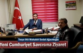 Tosya IHA Muhabiri Yeni Cumhuriyet Savcısı Serhat Gürbulak'a Hoş Geldin Ziyareti