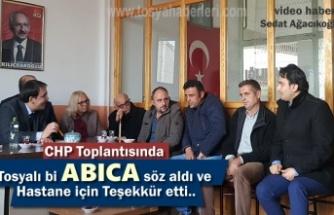 CHP Tosya İlçe Başkanlığı Toplantısında Hastane Sorunu Gündeme Geldi