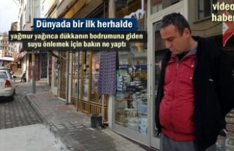 Tosya Esnafı Dükkan Bodrumlarına akan yağmur suyuna çözüm arıyor