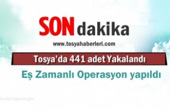 Tosya'da 441 adet sentetik ecza hap ele geçirildi