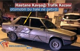 HASTANE KAVŞAĞINDA TRAFİK KAZASI MEYDANA GELDİ