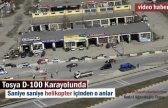 Tosya'da Helikopter Destekli Trafik Kontrol