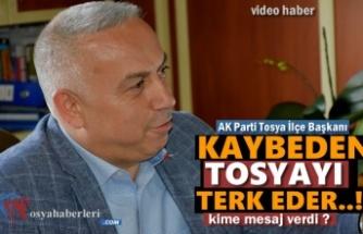 AK Parti Tosya İlçe Başkanı Metin Ekşi'den İlginç Açıklama