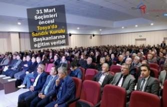 Tosya'da 31 Mart Seçimleri Öncesi Görevlilere Eğitim Verildi
