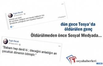 Tosya'da Öldürülen Genç Sosyal Medyada Bakın Neler Paylaştı