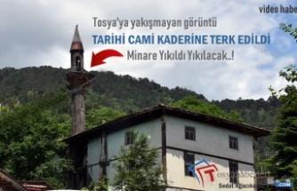 Tosya'da 120 Yıllık Tarihi Cami Kaderine Terk Edildi