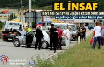 Tosya Yeni Sanayi Kavşağında Trafik Kazası