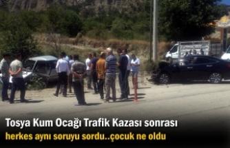 Tosya Kum Ocağı Trafik Kazası