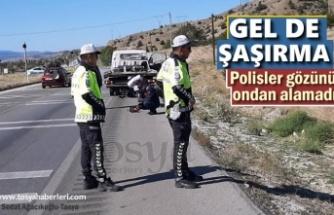 Tosya'da Polisleri Şaşırtan Trafik Kazası