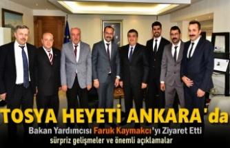 Tosya Heyeti Dışişleri Bakan Yardımcısı ve Avrupa Birliği Başkanı Faruk Kaymakcı'yı Ziyaret Etti