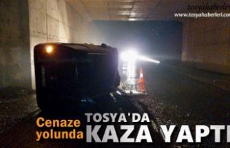 Cenazeye giden aile Tosya'da Trafik Kazası Geçirdi