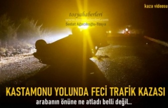 Tosya-Kastamonu Yolunda Trafik Kazası Meydana geldi