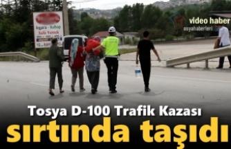 Tosya D-100 Karayolu Trafik Kazası sonrası