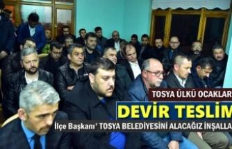 Tosya Ülkü Ocakları Başkanlığı Devir Töreni