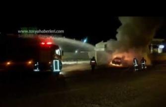 Tosya'da Araç Yangını
