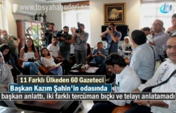 11 Farklı Ülkeden 60 yapancı Gazeteci Tosya ilçesini Ziyaret etti