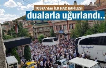 Tosya'dan İlk Hac Kafilesi Dualarla Uğurlandı