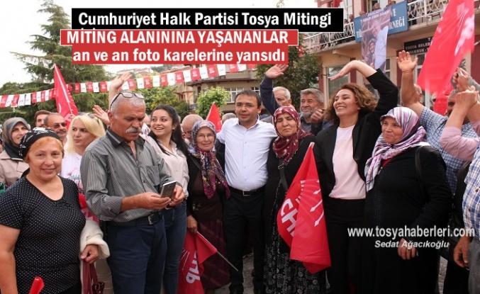 Cumhuriyet Halk Partisi Tosya Teşkilatı ilçede Seçim mitingi düzenledi