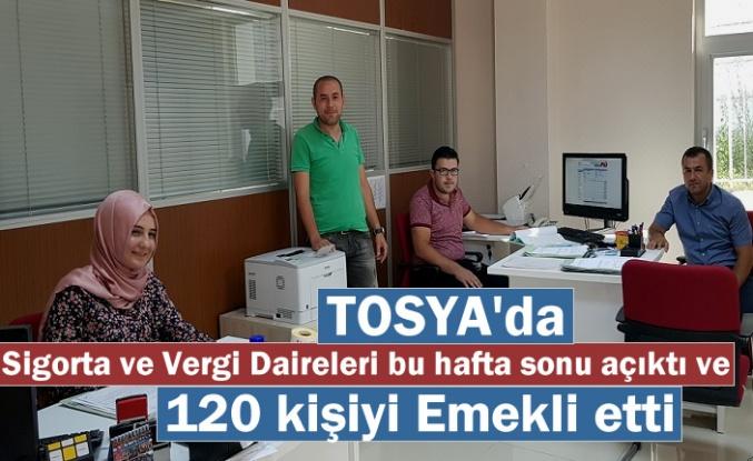 Tosya'da Cumartesi ve Pazar Günü SGK ile Vergi Dairesi Açıktı