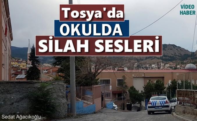 Tosya'da Okulda Silah Sesleri