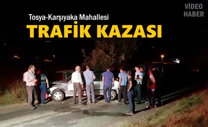 Tosya Karşıyaka Mahallesinde İlginç Trafik Kazası