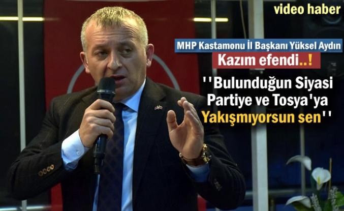 MHP Kastamonu İl Başkanı Yüksel Aydın Tosya'da Basın Toplantısı Yaptı