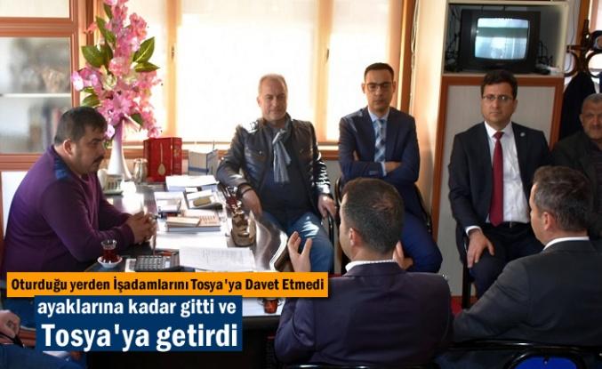 İYİ Parti Tosya Belediye Başkan Adayı Mustafa Güvenç İşadamlarını Tosya'ya Getirdi