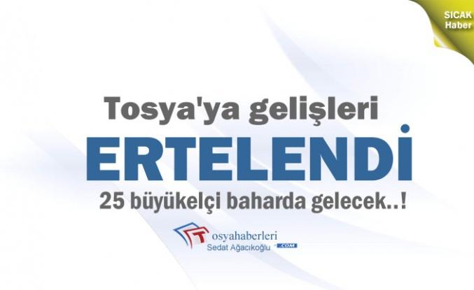 Büyükelçiler Tosya Programı Ertelendi