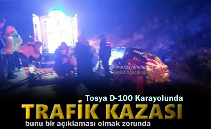 TOSYA D-100 KARAYOLUNDA BİR AİLE ÖLÜMDEN DÖNDÜ
