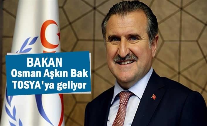 Gençlik ve Spor Bakanı Dr. Osman Aşkın Bak Tosya'ya Geliyor