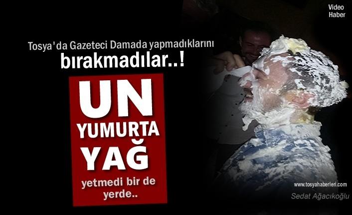 Tosya'da Gazeteci Damada Arkadaşları Yapmadığını Bırakmadı