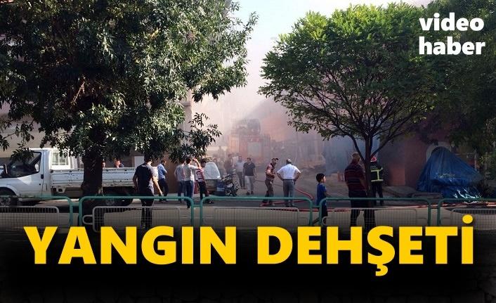 Tosya Marangozlar Sitesinde Yangın