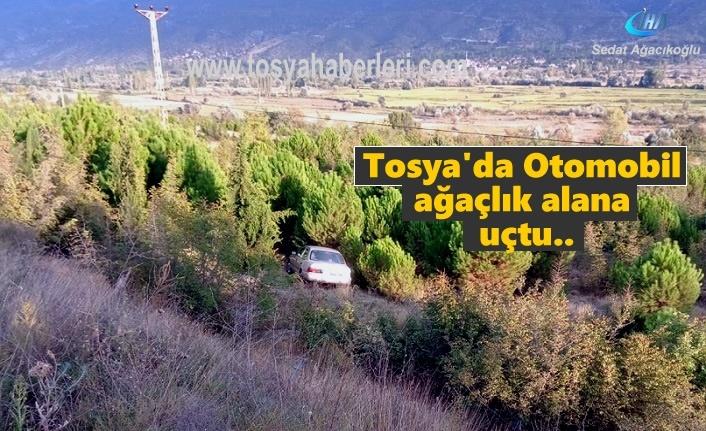 Tosya'da Ağaçlık alana uçan Otomobil içindeki 3 kişi