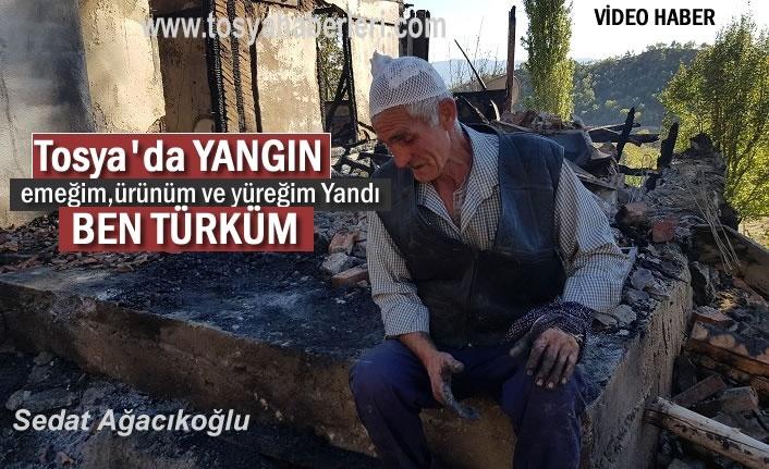 Tosya Suluca Köyünde Yangın Sonrası Yaşananlar