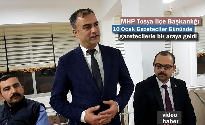 MHP Tosya İlçe Başkanlığı Gazeteciler Günü Programı