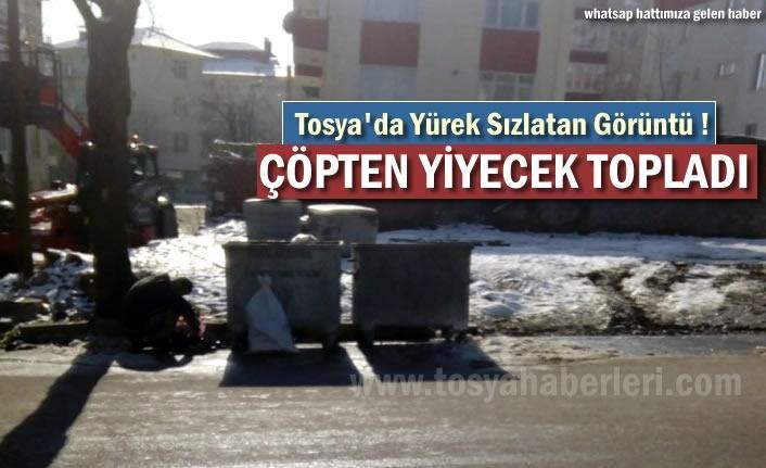 Tosya'da Çöpten Yemek Toplayan Vatandaş Yürekleri Sızlattı