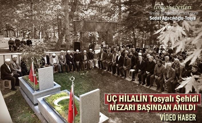 Üç Hilalin Tosyalı Ülkücü Şehit Yaşar Özcivlez'i kabri başında andı