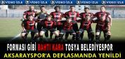 Tosya Belediyespor-Aksaray Belediyespor Maç Özeti